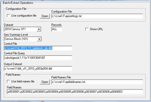 APIGateway Batch Extract Settings