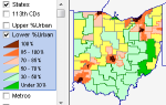 Ohio Lower %Urban
